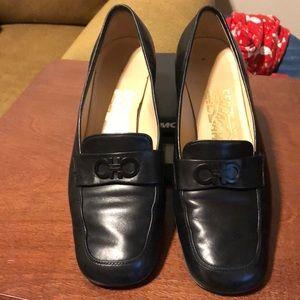 Salvatore Ferragamo Black Leather Loafers Sz 6.5